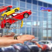 Dealer hand with a cars
